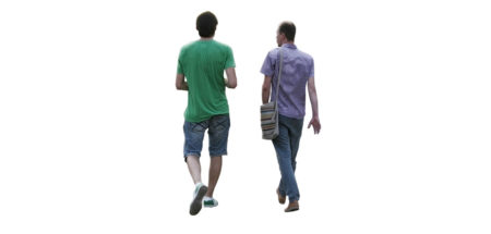 group of people walking png. Two Men Walking Group Of People Png