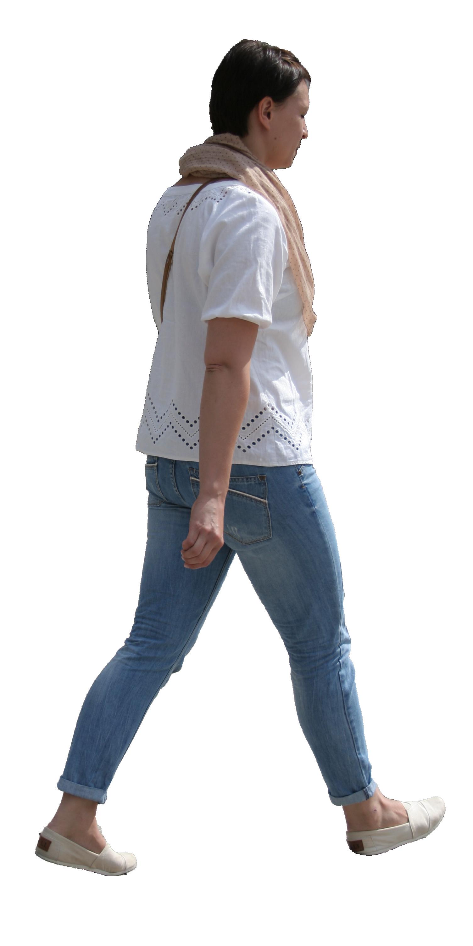 Walking women in white...