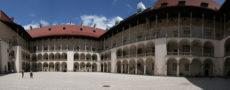 arcades wawel castle krakow poland