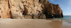 landscape beach and rock portugal