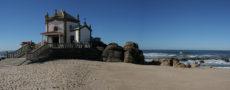 portugal porto chapel in ocean